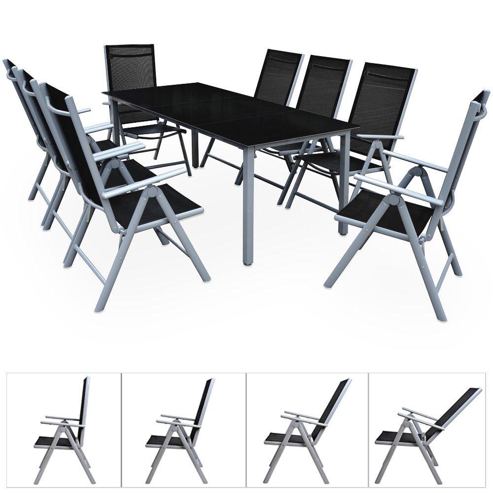 SSITG 8+1 Sitzgruppe Alu Gartenmöbel Gartenset Essgruppe Gartengarnitur Klappstuhl jetzt kaufen