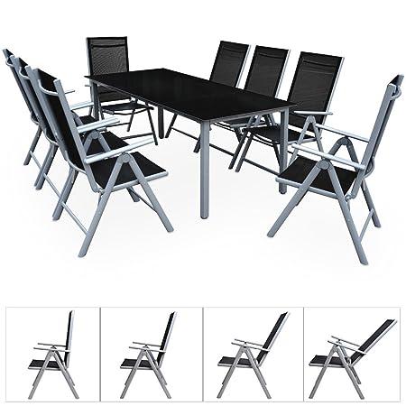 LD 8+ 1siège groupe Salon de jardin en aluminium de jardin Chaise pliante