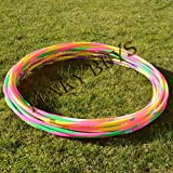FunkyBuys® 4pk Quality Adults Kids Stripy Multicolor Small Large Hula Hoops DIA:55cm (22