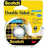 Scotch® Removable DoubleSided Tape 3/4 inch x 400 inches Dispenser, 2-PACK