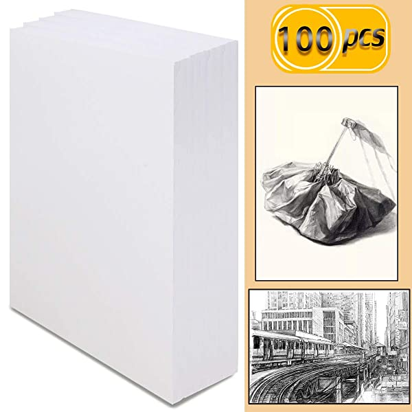 UPlama 100 Sheets (98 lb/160gsm) Sketch Paper,Artist Sketch Pad,Acrylic Art Pad for Sketching, Ink Sketch Book, Durable Acid Free Drawing Paper, Ideal for Kids & Adults(Bright White,A4,29.7X 21cm) (Tamaño: A4)
