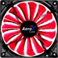 Aerocool Shark 14cm Quad LED Fan with 15 Blade Fluid Dynamic Bearing - Red