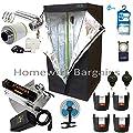 "Best Complete Grow Room Full Setup 80cm Tent 4"" Fan Filter 250w or 400w Light Kit"