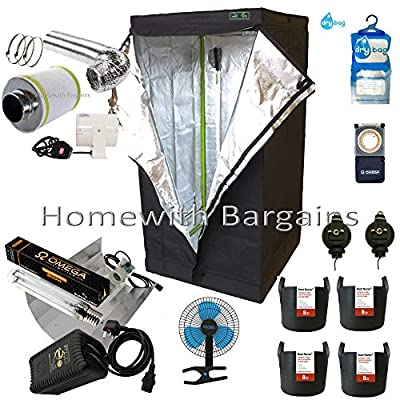 "Best Complete Grow Room Full Setup 80cm Tent 4"" Fan Filter 250w or 400w Light Kit"