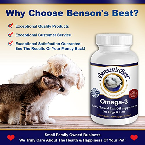 Benson 39 s best omega 3 fish oil for dogs provides 43 for Fish oil supplements for dogs