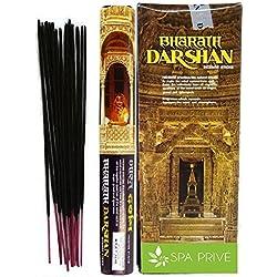 Incenso Darshan Bharat India 6x20 = 120 Bastoncini di incenso fatto a mano