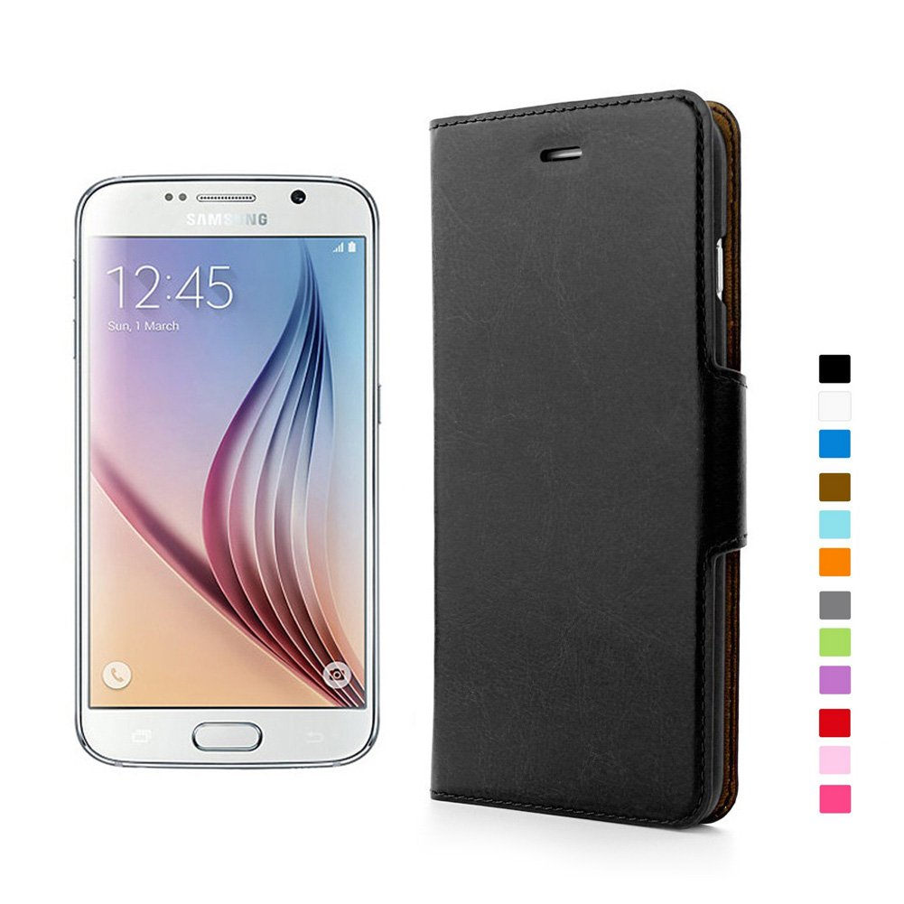 aLLreli Samsung Galaxy S6 Case [Premium] Leather Wallet Cover