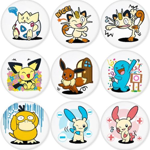 PIKACHU POKEMON round badges 1.75
