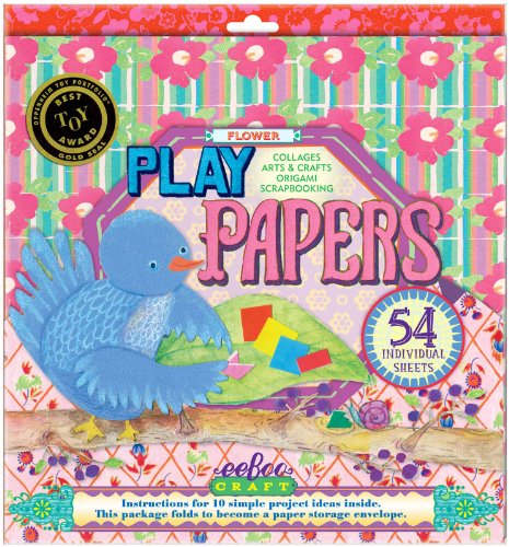 eeBoo Flowers Play Papers