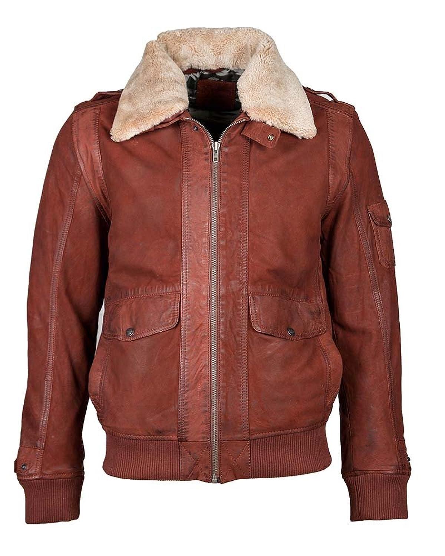 Mustang Lederblouson, Herren Pionier-S (maroon) günstig online kaufen