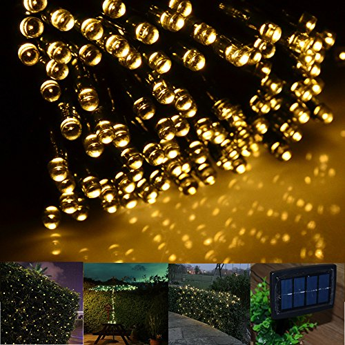 inst solar powered led string light ambiance lighting 65ft 20m 200 led solar fairy string lights. Black Bedroom Furniture Sets. Home Design Ideas