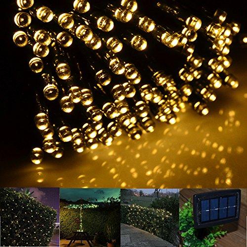 INST Solar Powered LED String Light Ambiance Lighting 65ft 20m 200 LED Solar Fairy String Lights ...