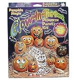 Pumpkin Magic Glow-in-the-dark Pumkin Acrylic Paint Kit with Stencils - Halloween Jack-o-Lantern
