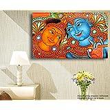 Tamatina Canvas Painting - Radha Krishna - Kerala Mural Art
