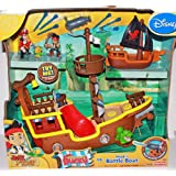 Disney Jake And The Neverland Pirates Gift Set - Jakes Musical Pirate Ship & Hooks Battle Boat With