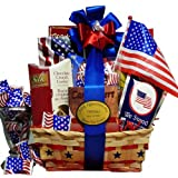Art of Appreciation Gift Baskets   America the Beautiful Patriotic Basket