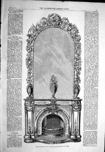 old-original-antique-victorian-print-1858-stove-mantelpiece-looking-glass-sultan-turkey-alderman-cop