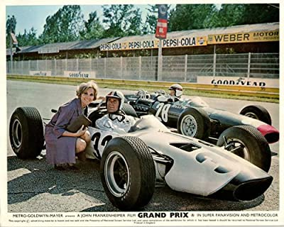 Grand Prix Original Lobby Card James Garner Eva Marie Saint Formula One Race Car