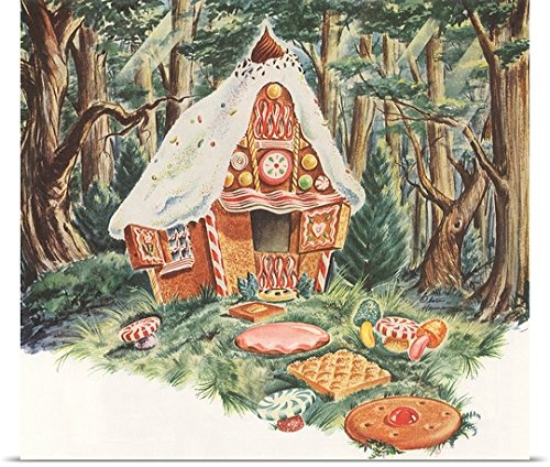 Poster Print entitled Gingerbread House