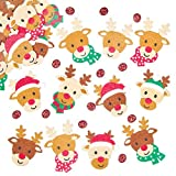 Reindeer Felt Stickers for Children to Decorate Christmas Cards Crafts and Collage Pack of 90