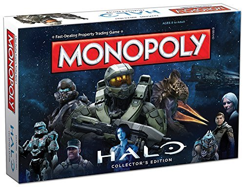 MONOPOLY: Halo Collector's Edition Board Game by USAopoly (Halo Master Chief Collectors Edition)