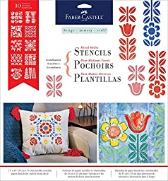 Faber Castell Design Memory Craft Mixed Media Paper Stencils- Scandinavian