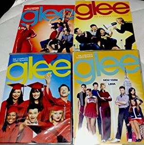 GLEE Seasons 1 2 3 and 4 DVD Sets (First four seasons 1-4) Musical TV Show Jane Lynch, Lea Michele, Matthew Morrison, Cory Monteith