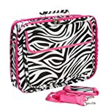 Zebra Hot Pink Laptop Bag Case 17-Inch