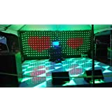 2M high 3m Wide P16CM 2PCS Packed led video curtain with 2 controller