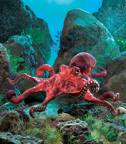 Folkmanis Red Octopus Hand Puppet