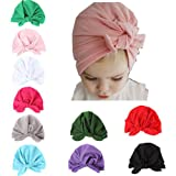 Udolove Baby Headband Set- Girl Soft Turban Knot Rabbit Headwrap Hospital Hat (10pcs Cotton Rabbit Set)