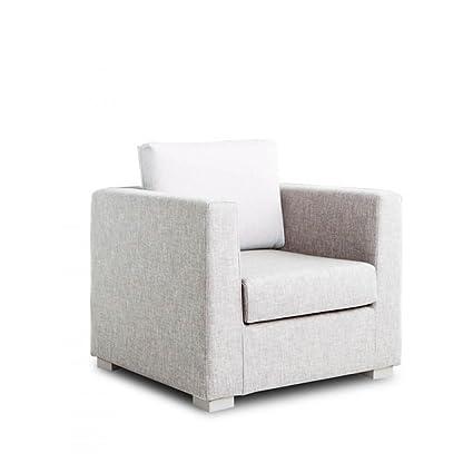 Design Twist Daisy Poltrona, Stoffa, Bianco, 90 x 83 x 80 cm