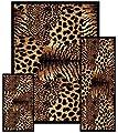 Southwestern Zebra Skin Animal Safari Area Rug 3 Pieces Set 2' X 3', 2' X 6', 5 X 8'