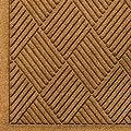 "Andersen 221 Waterhog Fashion Diamond Polypropylene Fiber Entrance Indoor Floor Mat, SBR Rubber Backing, 10' Length x 4' Width, 3/8"" Thick, Gold"
