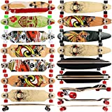FunTomia� Longboard Skateboard Board Skaten Cruiser Komplettboard mit ABEC-11 High Speed Kugellager Bild