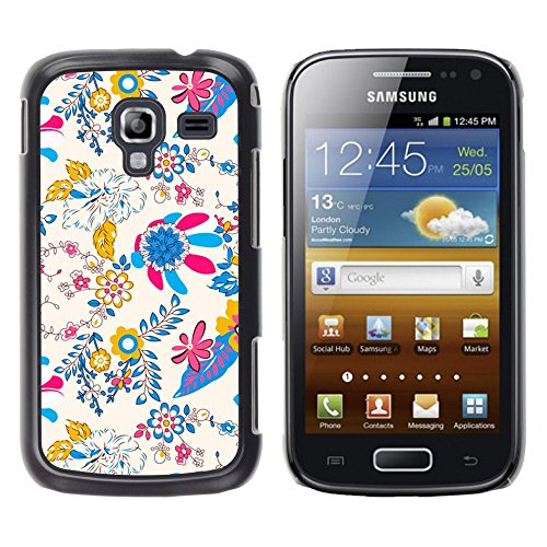 For Samsung Galaxy Ace 2 - Tropical Golden Vibrant Floral Design Case Cover Protection Design Ultra Slim Snap on Hard Plastic - God Garden -