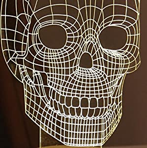 SHENNOSI® 3D Glow LED Lamp - Art Sculpture Lights Up in Produces Unique Lighting Effects and 3D visualization Amazing Optical Illusion (Skull) by SHENNOSI®