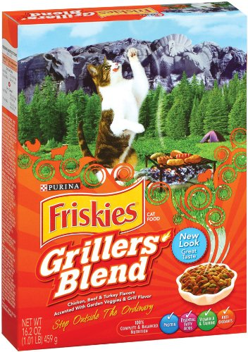 Detail image Purina Pet Care Friskies Dry Cat Grillers Blend, 16.2-Ounce (Pack of 12)