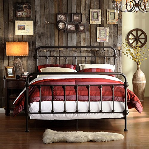 Homelegance Nottingham Metal Spindle Bed (Wrought Iron Headboard compare prices)