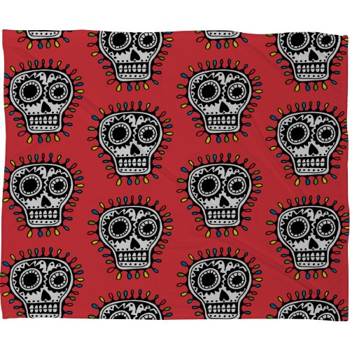 Skull Throw Blanket back-1078034