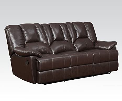 Obert Leather Sofa with Motion in Dark Brown by Acme Furniture