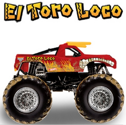 64 SCALE MUD TRUCKS EL TORO LOCO MONSTER JAM TRUCK: Toys & Games