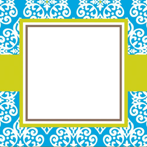 Three Designing Women Designer Gift Tags, Blue Medallion Collection front-606045