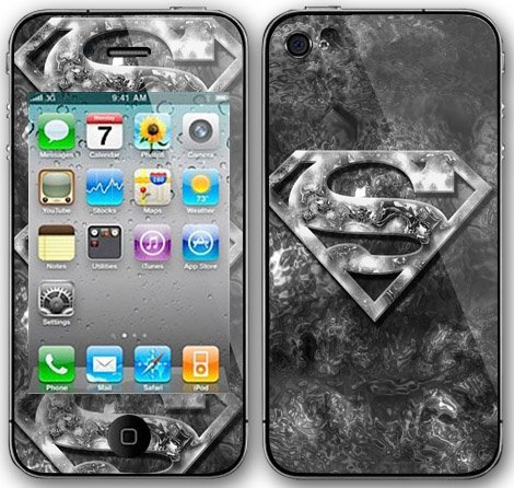 Gadgetwear Protective Vinyl Skin Decal For Apple iPhone 4G (Superman)
