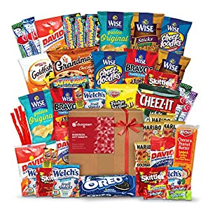 Snack Chips Gift Set College Bundle Care Package 50 Count