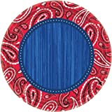 Amscan Bandana & Blue Jeans Paper Dessert Plates 8 Pack 7