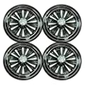 "4 BRAND NEW RecPro 10"" CLUB CAR EZGO YAMAHA GOLF CART CHROME WHEEL COVERS HUB CAPS"