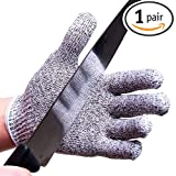 NoCry Cut Resistant Gloves Offer Safe and Secure Hand Protection, Comfortable Grip High Performance Gloves, Our Personal Protective Equipment Gloves Are Ideal for Food Preparation, Lab, Safety and Work Environments, Size Small-Medium. FREE Cooking EBOOK included! $9.95 for a Limited Amount of Incorrectly Labeled Products (Hang Tags Say Level 3, Actually Level 5)