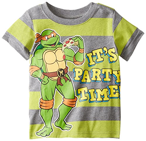 Teenage Mutant Ninja Turtles Little Boys' TMNT It's Party Time Stripe Tee