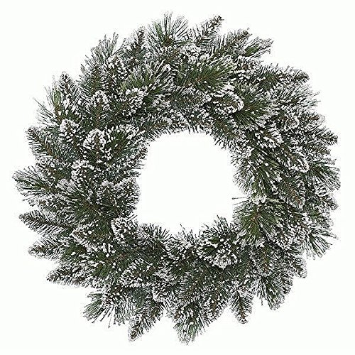 Kaemingk 688477 Kranz Finley Pine, gefrostet, Soft - und Hartnadel Mix, innen, Durchmesser 50 cm thumbnail